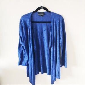Cynthia Rowley Royal Blue Cardigan Sweater Large L
